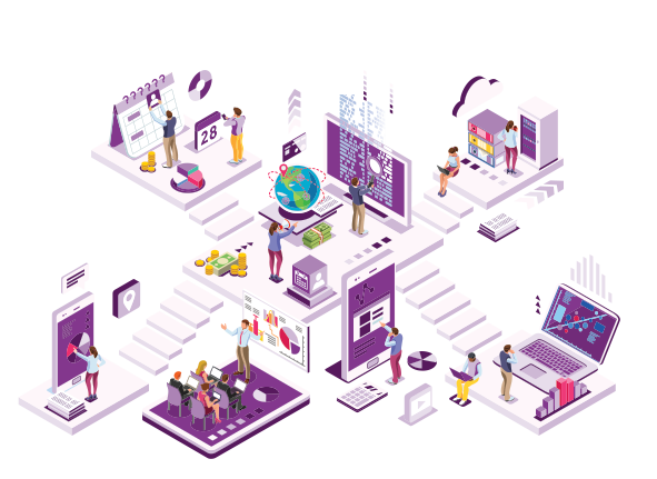 Isometric design of office