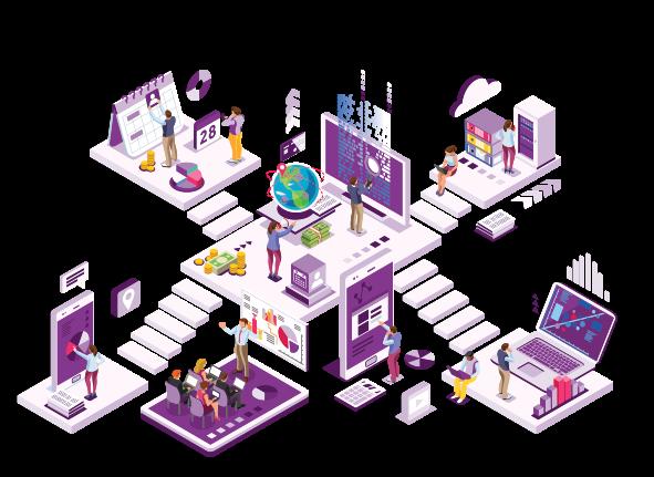 Isometric design of office